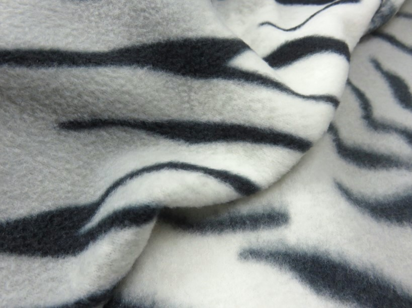 Fleece tiger grå