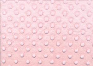 U265 Minky Fabric Dots light pink