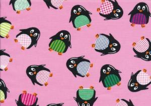 Poplin pingvin rosa