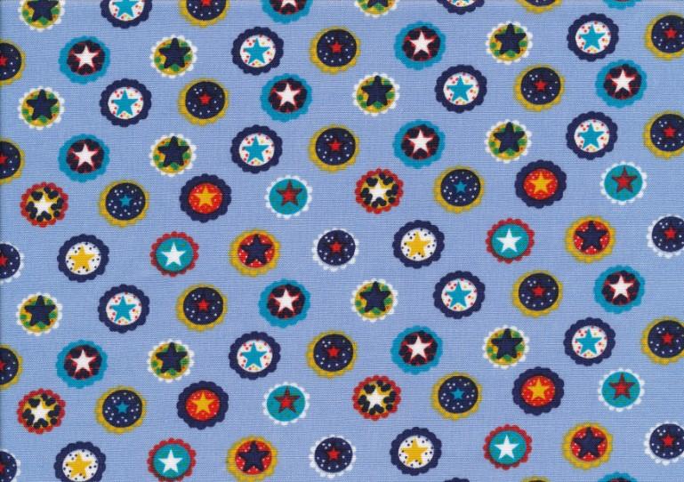 Poplin Stjärnring ljusblå