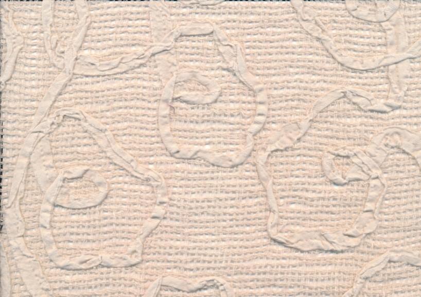 V418 Glesvävt linnetyg med mönster