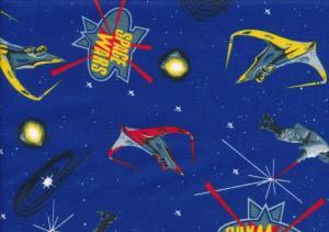 Bomullstyg Space Wars