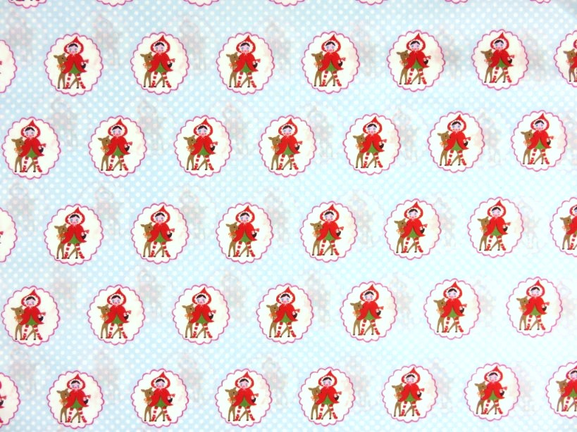 CottonPoplin Fabric Deer Friend