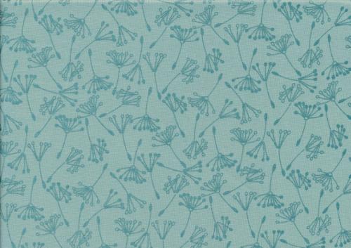 Cotton fabric Wishful teal