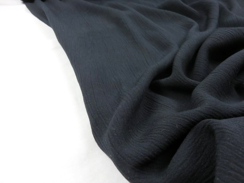 Viscose krinklad svart