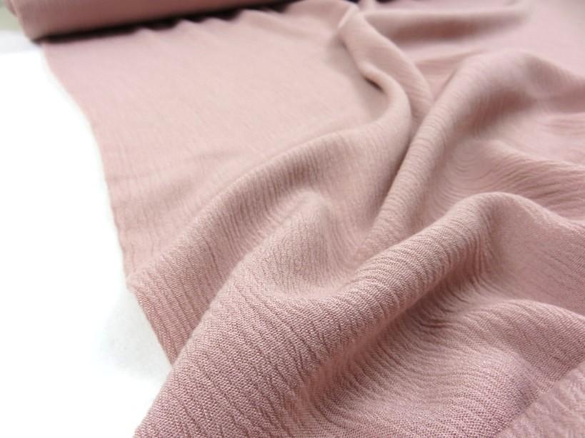Viscose krinklad rosa