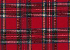 Wowen fabric Tartan Check red