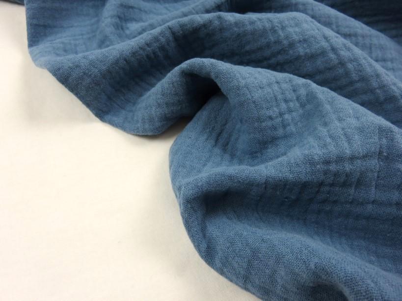 Muslin jeansblå
