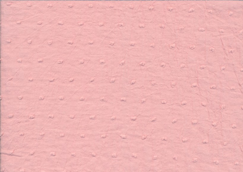 Bomullstyg prick rosa