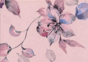 Wowen fabric Flower pink
