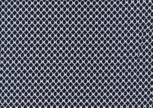 V640 Vävd viscose Cirklar mörkblå/vit