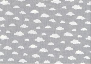 V641 Cotton Fabric Clouds grey