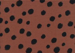 V653 Woven Viscose Fabric Dots brown