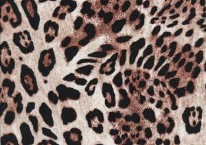 V654 Woven Viscose Fabric Leopard brown