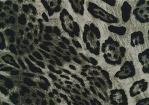 V654 Woven Viscose Fabric Leopard green