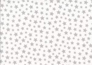 V655 Bomullsväv Småstjärnor vit