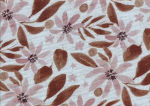 V668 Double Gauze Muslin Fabric Flowers