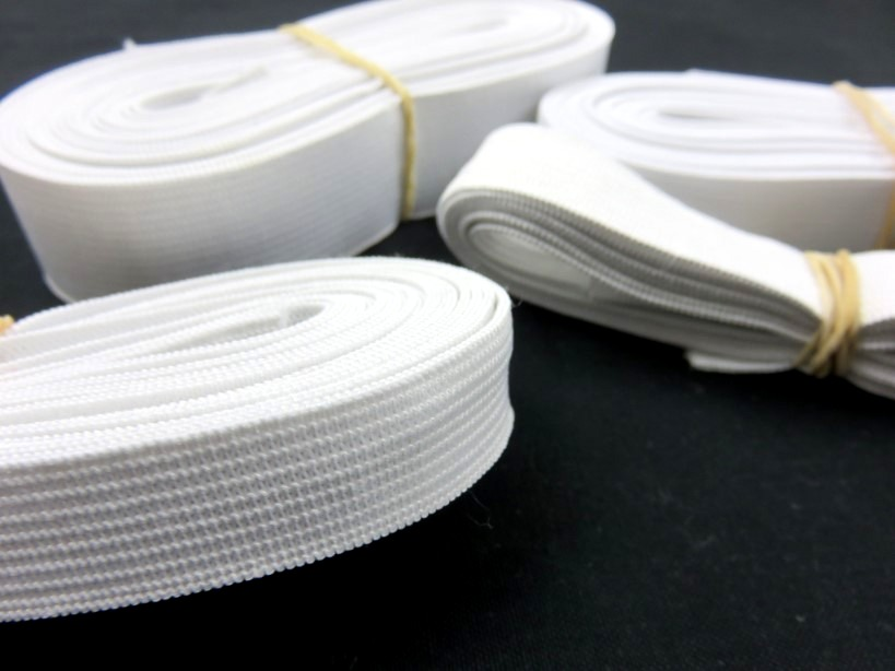 Y501 Pack - Knit Elastic white 25 mm (150 g)