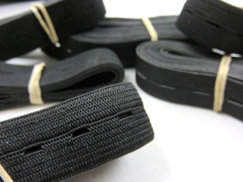 Y502 Pack - Buttonhole Elastic black (150 g)