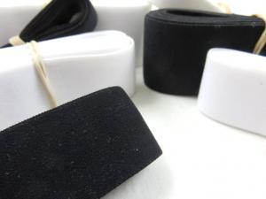 Y517 Paket - Mjuk resår svart/vit (150 g)