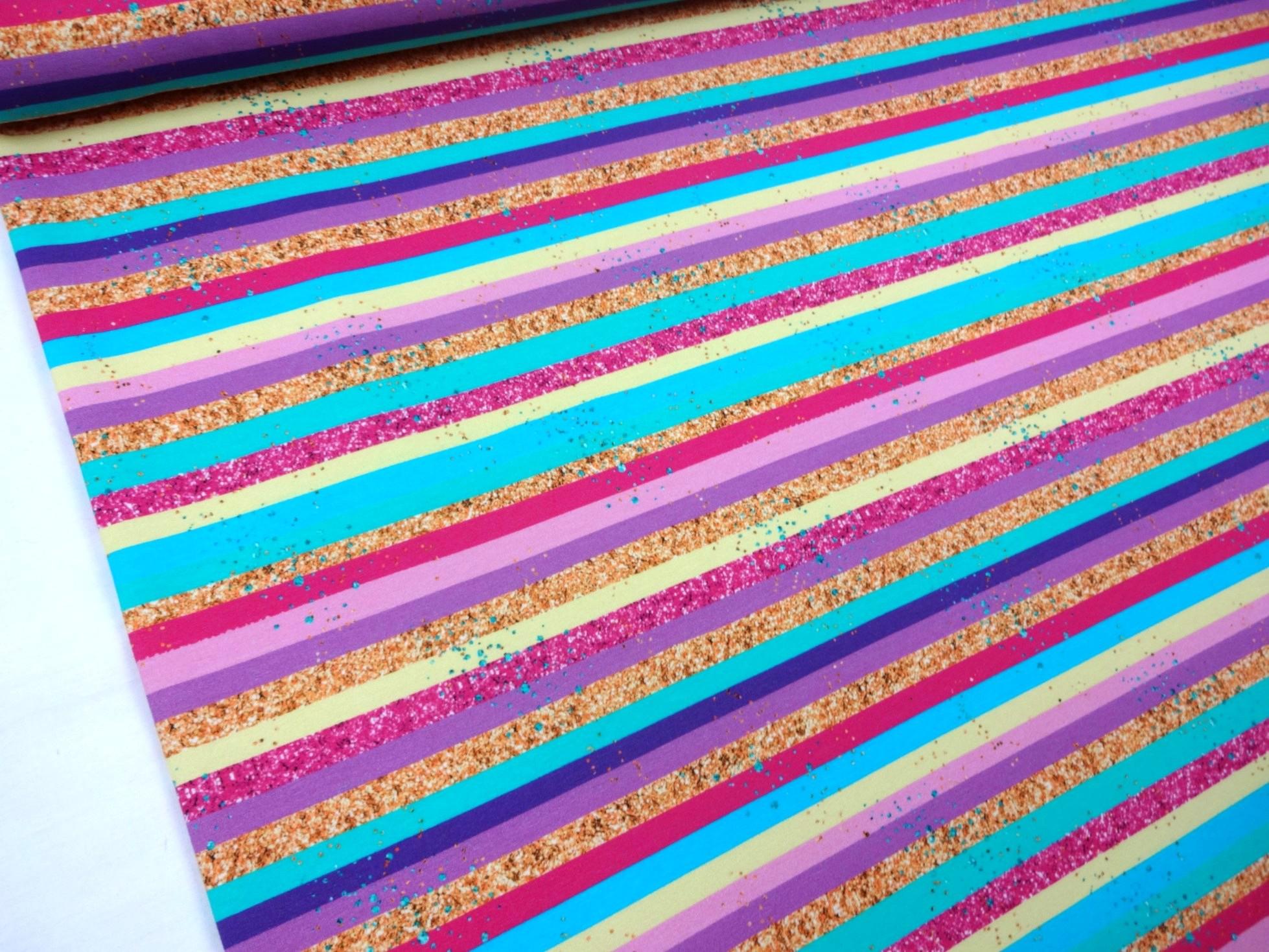 T5326 Sweatshirt Fabric Stripes neongold