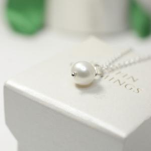White Pearl Single Necklace