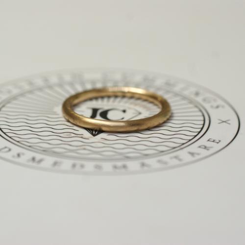 Thin Ring Brushed 18 K