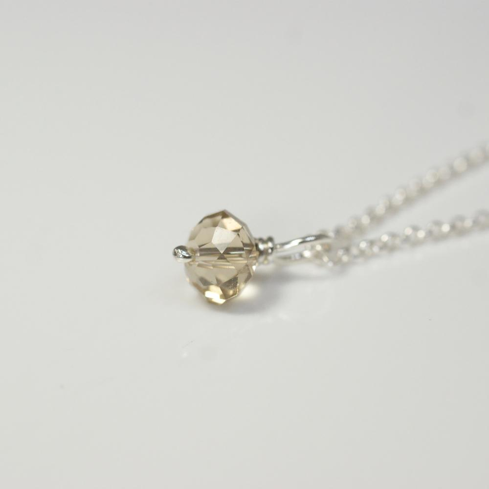 Champagne Crystal Single Necklace