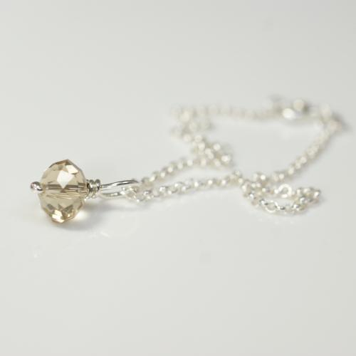 Champagne Crystal Single Bracelet