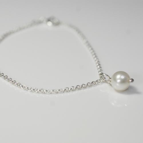 White Pearl Single Bracelet