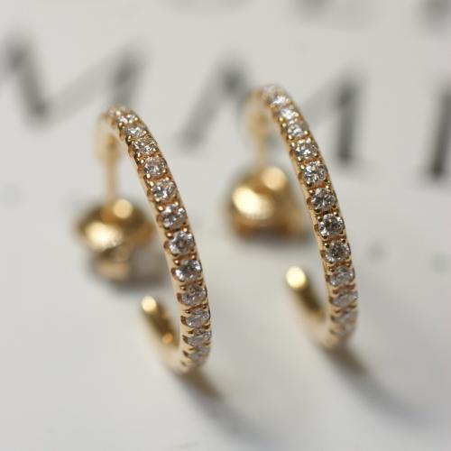 Diamond Hoops (0,30 ct)
