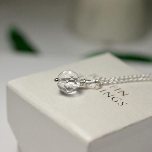 Clear Crystal Single Necklace