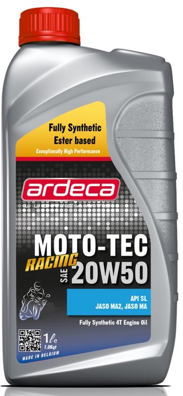 Ardeca Moto-Tec Racing 20W50 1 Liter Mc olja - Josema