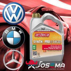 motorolja 5w30 för BMW Mercedes och VW Longlife motorolja Ardeca Synth Pro 5W30