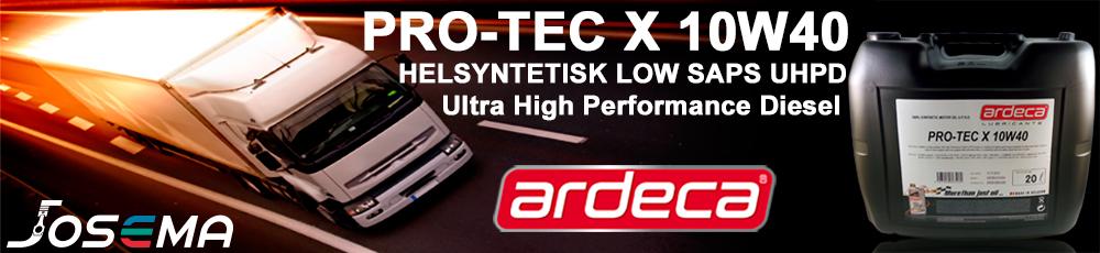 ARDECA PRO-TEC X 10W40, UHPD motorolja, motorolja tunga fordon, heavy duty olja 10w-40