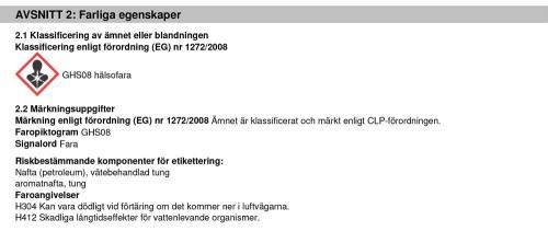 Information farliga egenskaper JLM Diesel Injector Cleaner