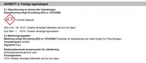 J02235 FARLIGA EGENSKAPER