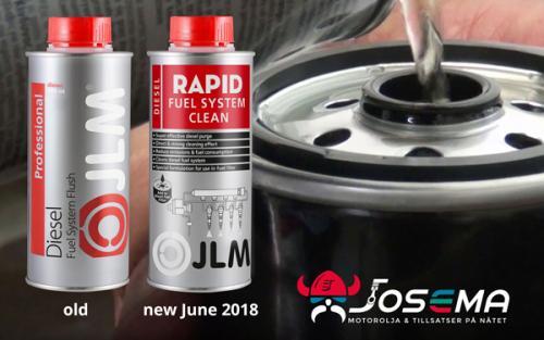 ny flaska och nytt namn från Diesel System Flush till Diesel Rapid Fuel System Clean på josema.se