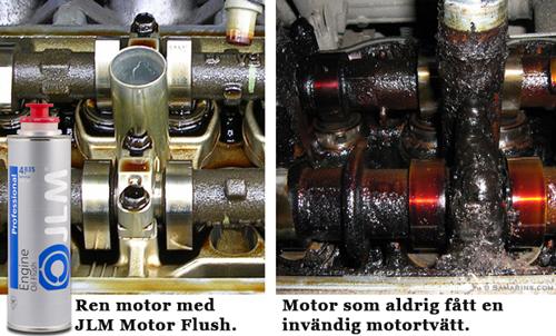 Invändig motorrengöring
