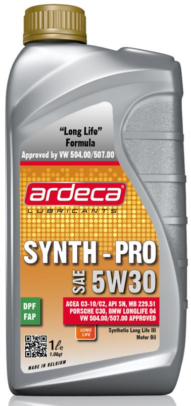 Ardeca synth pro 5W30 - longlife 3