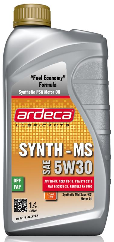 Ardeca Synth MS 5W30 - Acea C2