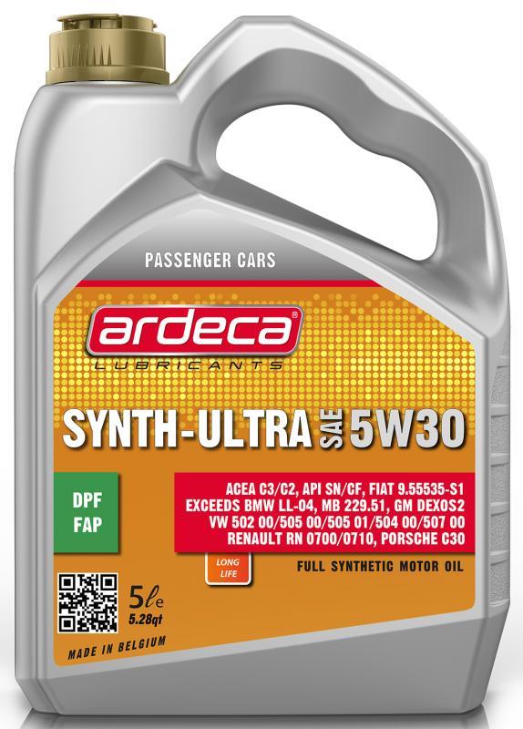 Ardeca Synth Ultra 5W30 5 Liter - Josema