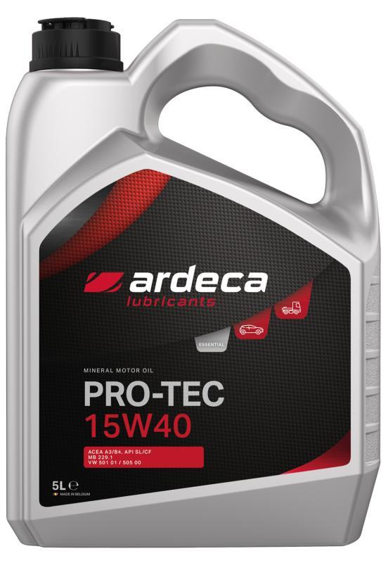 15w40 motorolja Ardeca Pro-Tec 15W-40 mineralolja 5 liter.