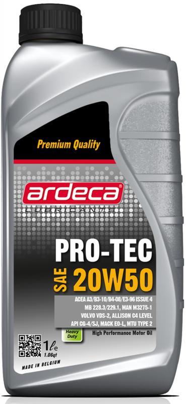 Ardeca Pro-Tec 20W50 - Mineralolja