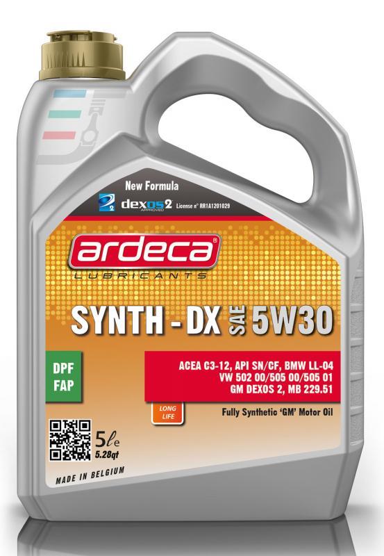 DEXOS 2 5W30 5 LITER ARDECA SYNTH DX 5W30