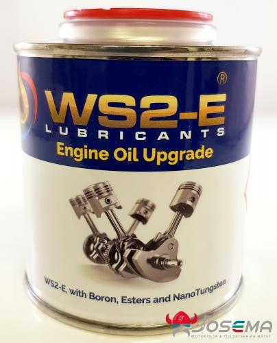 WS2-E motortillsats för motorer som använder standard helsyntetisk motorolja eller mineral motorolja. Innehåller 100% syntetisk ester, Volframsulfid och Bor för extrem smörjning och prestanda.