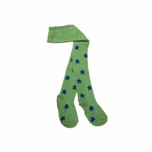 Stjärnstrumpbyxa Grön/Kornblå i OEKO-TEX bomull