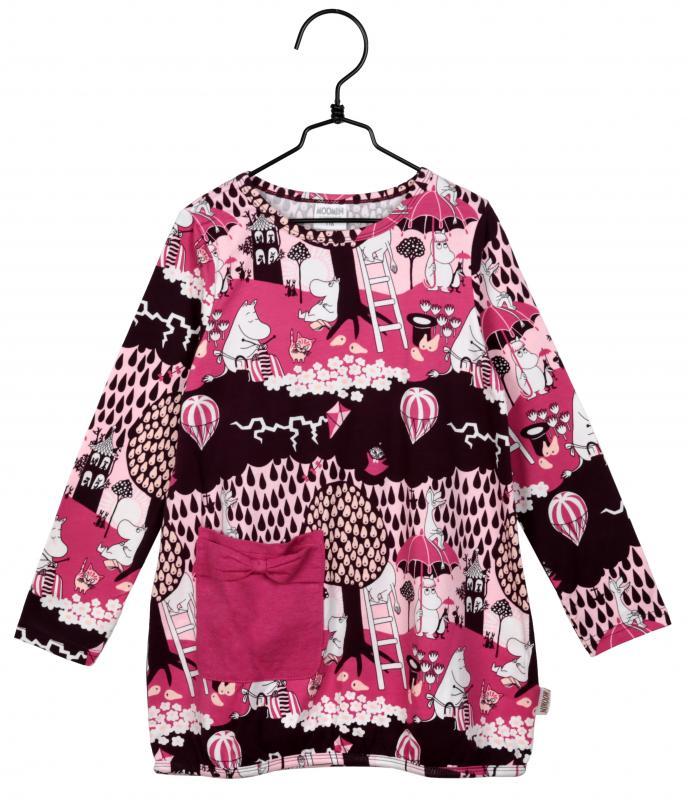 Mumin klänning med ficka i GOTS bomull