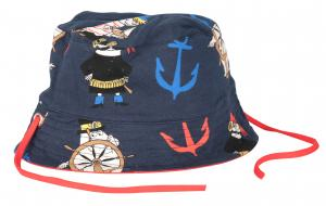 Mumin Solhatt Piraten Marinblå i GOTS bomull