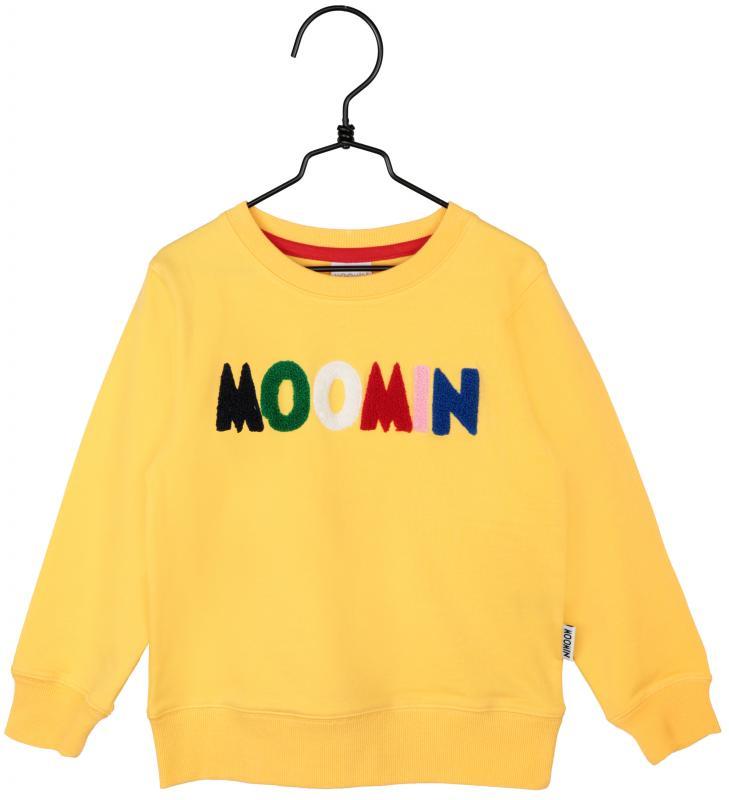 Mumin College-tröja Gul i GOTS bomull.